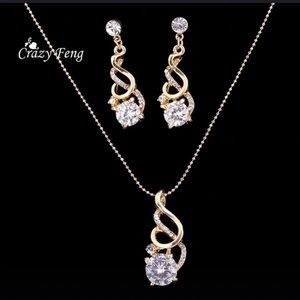 Jewelry set, earrings and necklace
